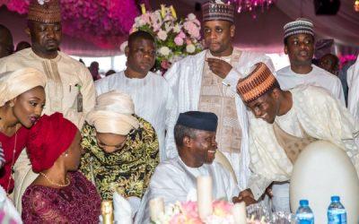 Buhari's Children, Yusuf, Halima, Zahra & Hubby At Amosun's Daughter's Wedding