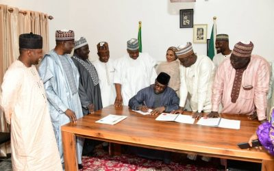 GOVERNOR SANI BELLO SIGNS 2020 APPROPRIATION ACT INTO LAW