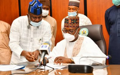 GOVERNOR ABUBAKAR SANI BELLO ASSENTS TO 2021 NIGER STATE BUDGET TO INTO LAW