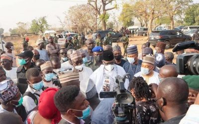 GOVERNOR ABUBAKAR SANI BELLO VISITS COLLEGE OF ABDUCTED STUDENTS IN KAGARA…PROMISES THEIR SAFE RESCUE